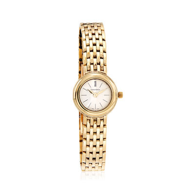 C. 1990 Vintage Tiffany Jewelry Women's 21mm 18kt Yellow Gold Watch, , default