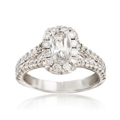 Henri Daussi 1.47 ct. t.w. Diamond Engagement Ring in 18kt White Gold