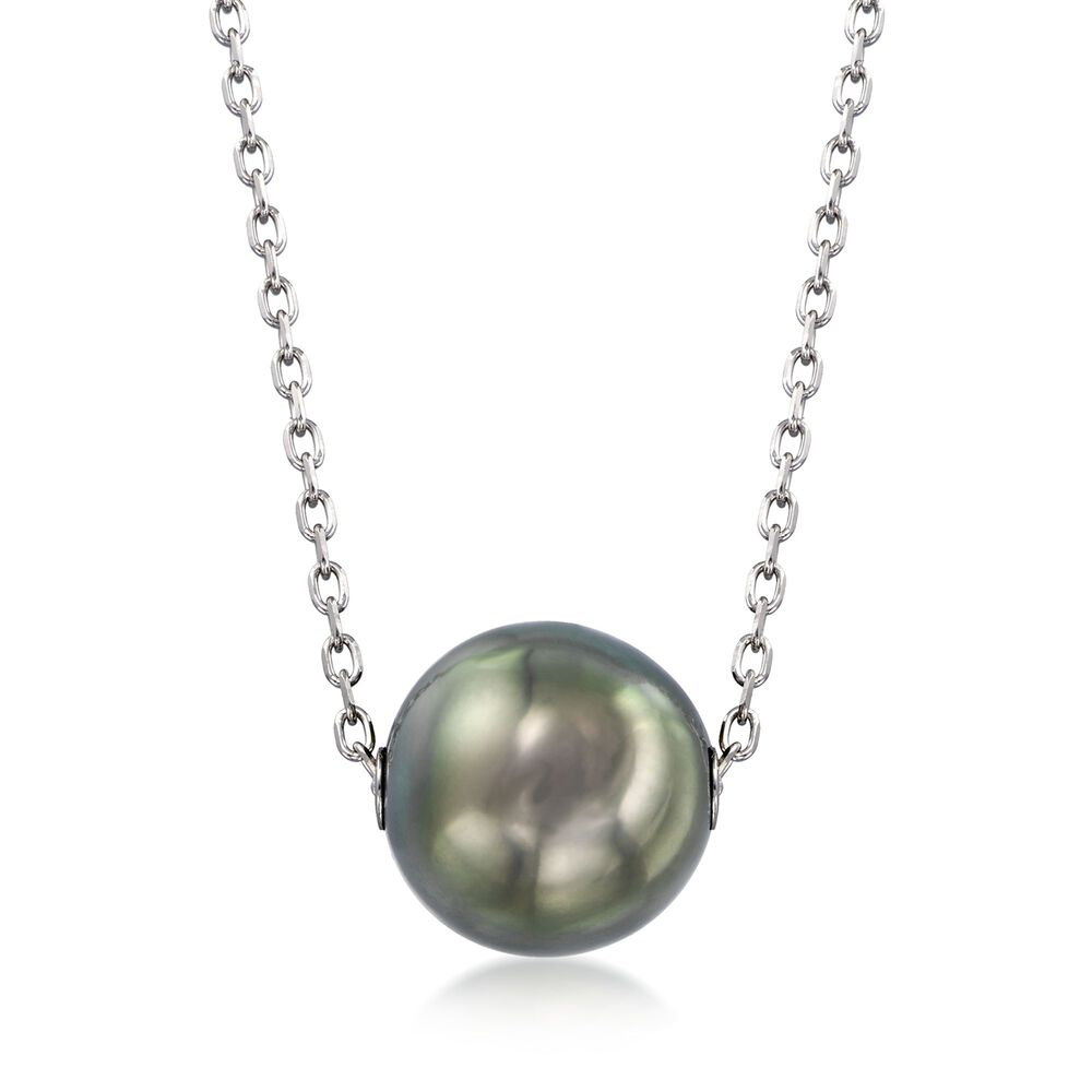 dc93f8ff226ee5 Mikimoto 10mm A+ Black South Sea Pearl Necklace in 18-Karat White Gold.  16 quot