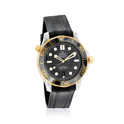 Omega Seamaster Diver Men's 42mm Automatic Stainless Steel and 18kt Yellow Gold Watch with Black Rubber Strap