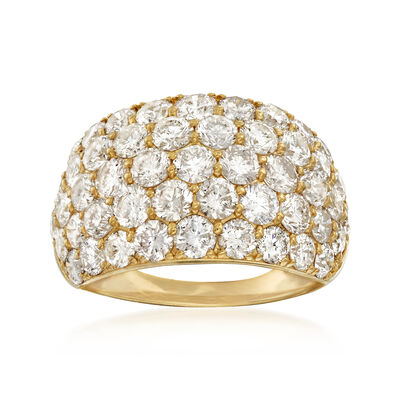 C. 1980 Vintage 5.27 ct. t.w. Diamond Dome Ring in 18kt Yellow Gold, , default