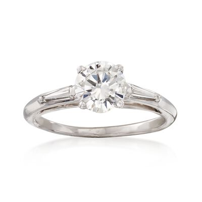 C. 2000 Vintage 1.02 ct. t.w. Certified Diamond Ring in 14kt White Gold, , default