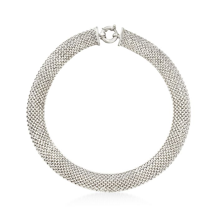 """Italian Sterling Silver Riso Necklace. 18"""", , default"""