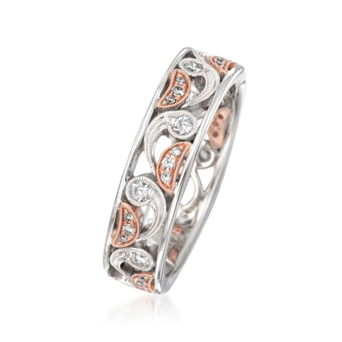 .29 ct. t.w. Diamond Paisley Ring in 18kt Two-Tone Gold