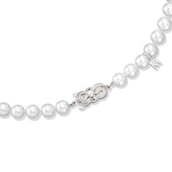"Mikimoto 7-8mm A1 Akoya Pearl Necklace with 18-Karat White Gold. 32"", , default"