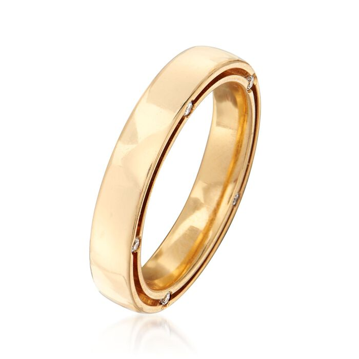 C. 2010 Vintage Damiani and Brad Pitt 18kt Yellow Gold Ring with .15 ct. t.w. Diamonds