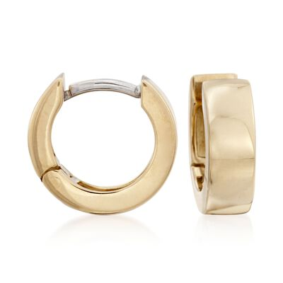 Roberto Coin 4mm 18kt Yellow Gold Hoop Earrings