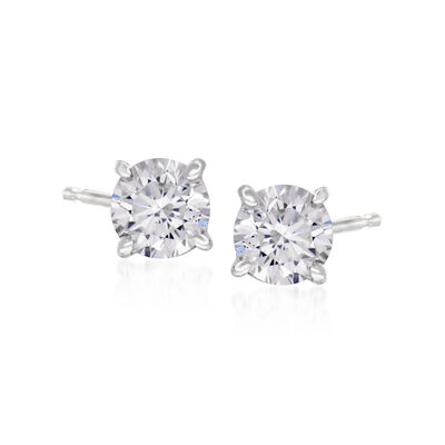 C. 2000 Vintage .70 ct. t.w. Diamond Stud Earrings in 14kt White Gold, , default