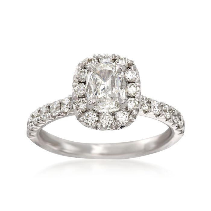 Henri Daussi 1.40 ct. t.w. Diamond Engagement Ring in 14kt White Gold