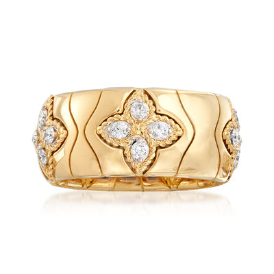 "Roberto Coin ""Princess Flower"" .52 ct. t.w. Diamond Ring in 18kt Yellow Gold, , default"