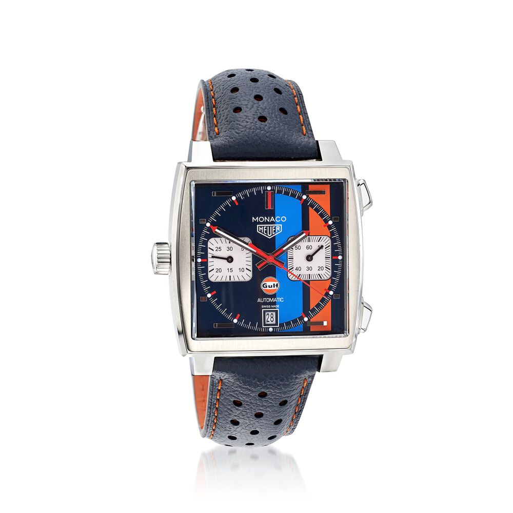 75493204b TAG Heuer Special Edition Monaco Gulf 39mm Men's Auto Chronograph Stainless  Steel Watch, , default