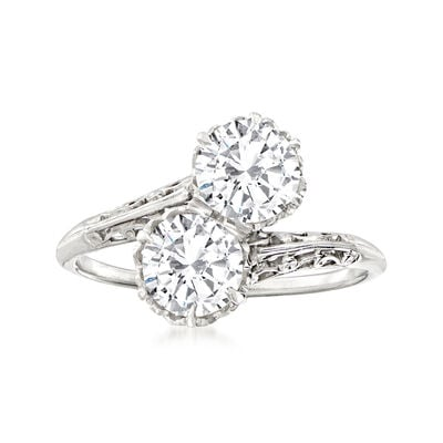 C. 2000 Vintage 1.50 ct. t.w. Diamond Bypass Ring in Platinum