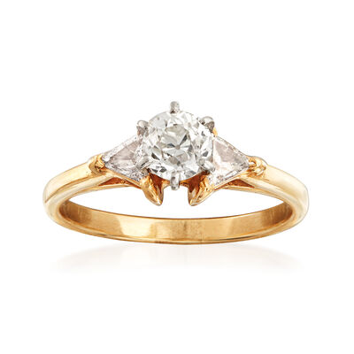 C. 1980 Vintage 1.10 ct. t.w. Diamond Ring in 14kt Yellow Gold, , default