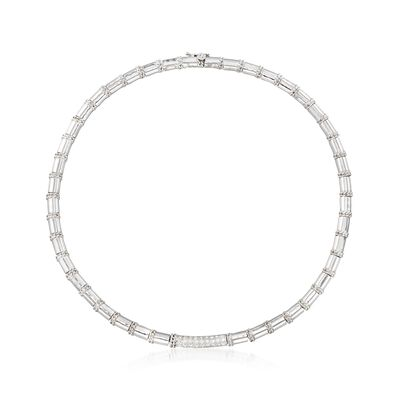 C. 1990 Vintage Cassis .75 ct. t.w. Diamond Collar Necklace in 18kt White Gold, , default