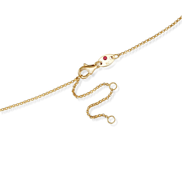 """Roberto Coin """"Princess"""" Boy Pendant Necklace with Diamond Accent in 18kt Yellow Gold"""