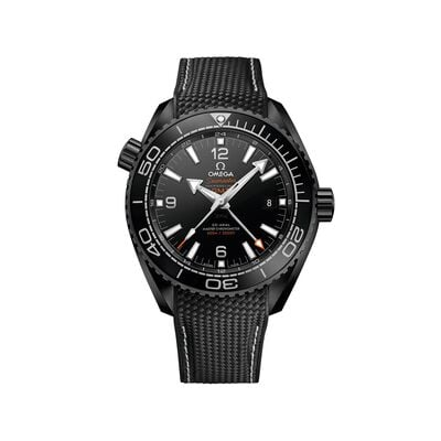 Omega Seamaster Deep Black Men's 45.5mm Black Ceramic Watch with Black Rubber Strap