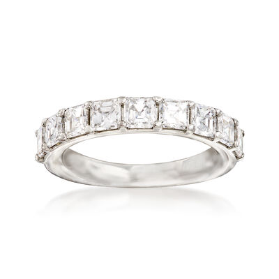 2.00 ct. t.w. Asscher-Cut Diamond Wedding Band in Platinum