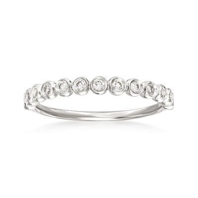 Henri Daussi .21 ct. t.w. Diamond Wedding Ring in 14kt White Gold