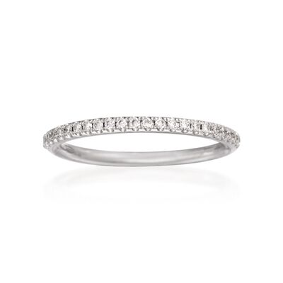 Henri Daussi .16 ct. t.w. Diamond Wedding Ring in 18kt White Gold
