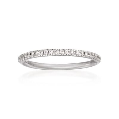 Henri Daussi .16 ct. t.w. Diamond Wedding Ring in 18kt White Gold, , default