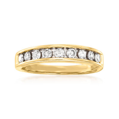 C. 1980 Vintage .50 ct. t.w. Diamond Ring in 14kt Yellow Gold