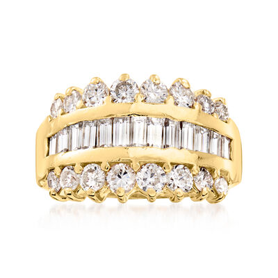 C. 1990 Vintage 2.00 ct. t.w. Diamond Ring in 14kt Yellow Gold