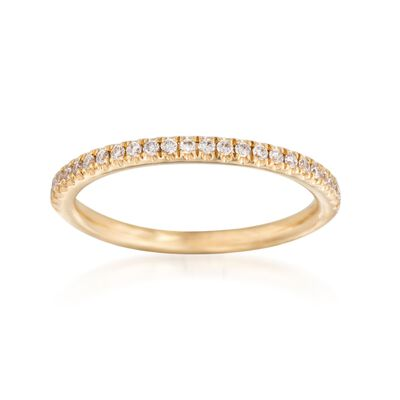 Henri Daussi .15 ct. t.w. Diamond Wedding Ring in 14kt Yellow Gold