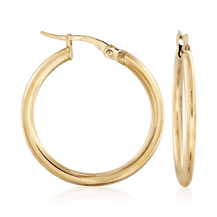 Roberto Coin Hoops in 18-Karat Yellow Gold