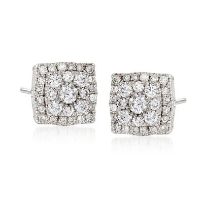 Gregg Ruth .55 ct. t.w. Diamond Earrings in 18kt White Gold, , default