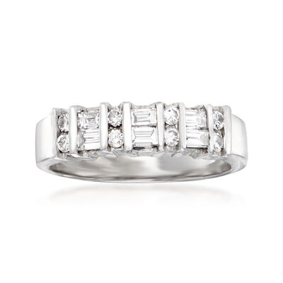 C. 1990 Vintage .65 ct. t.w. Diamond Ring in 10kt White Gold