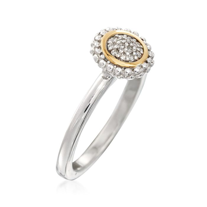 """Phillip Gavriel """"Popcorn"""" Diamond-Accented Ring in Sterling Silver and 18kt Gold"""