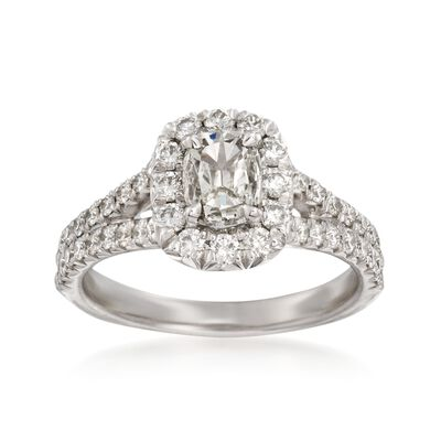 Henri Daussi 1.17 ct. t.w. Diamond Engagement Ring in 18kt White Gold, , default