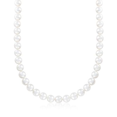 Mikimoto 8-8.5mm 'A' Cultured Akoya Pearl Necklace with 18kt Yellow Gold