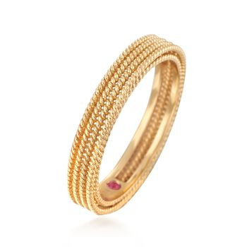 Roberto Coin Symphony Barocco 18-Karat Yellow Gold Four-Row Band. Size 7, , default