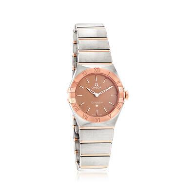 Omega Constellation Women's 28mm Stainless Steel and 18kt Rose Gold Watch