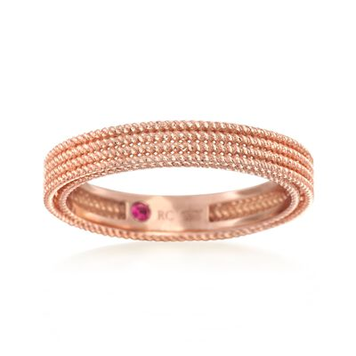 "Roberto Coin ""Symphony"" Barocco Ring in 18kt Rose Gold, , default"