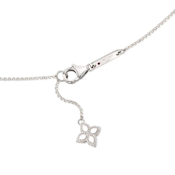 "Roberto Coin ""Princess"" .17 ct. t.w. Diamond Station Necklace in 18kt White Gold"