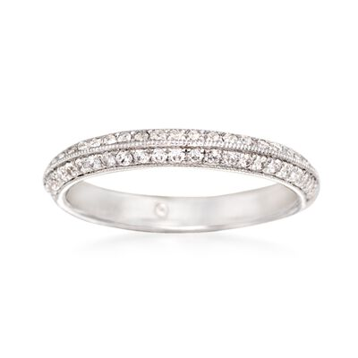 Gabriel Designs .36 ct. t.w. Diamond Wedding Ring in 14kt White Gold, , default