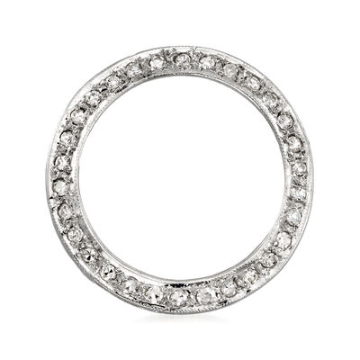 C. 1970 Vintage .50 ct. t.w. Diamond Eternity Circle Pin in 14kt White Gold, , default