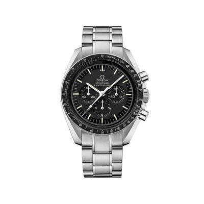 Omega Speedmaster Moonwatch Men's 42mm Stainless Steel Watch with Black Dial, , default