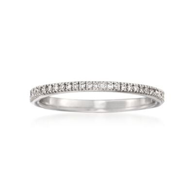 Simon G. .17 ct. t.w. Diamond Wedding Ring in 18kt White Gold, , default
