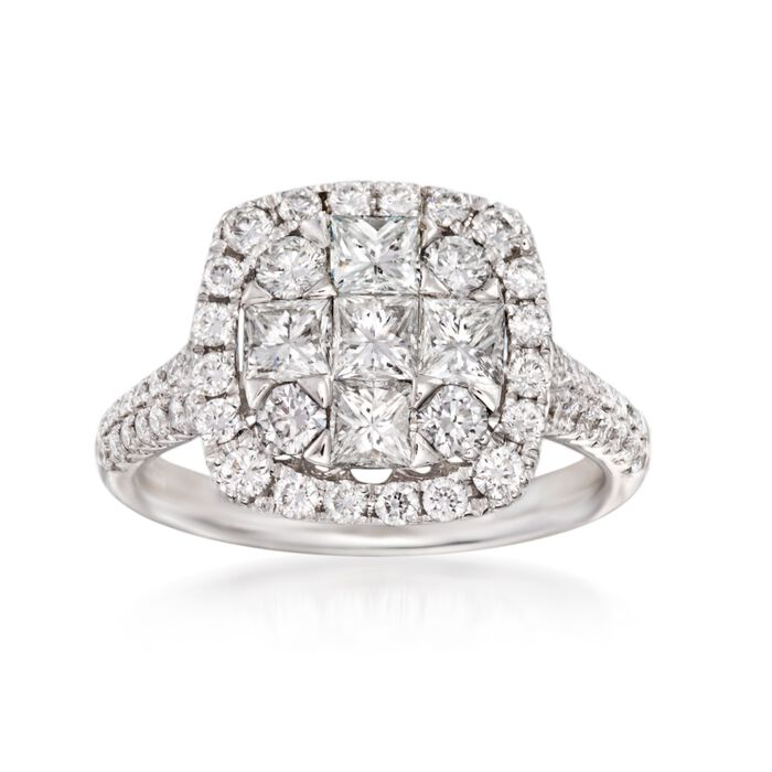 Gregg Ruth 1.85 ct. t.w. Diamond Ring in 18kt White Gold