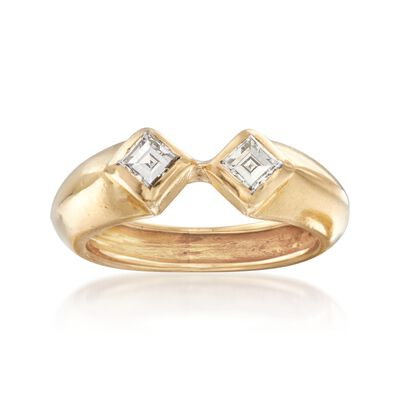 C. 1990 Vintage Tiffany Jewelry .40 ct. t.w. Square-Cut Diamond Ring in 18kt Yellow Gold