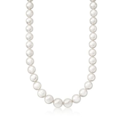 Mikimoto 9x7mm A1 Akoya Pearl Necklace with 18kt White Gold, , default