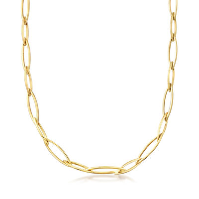 C. 1990 Vintage 14kt Yellow Gold Long Link Necklace, , default