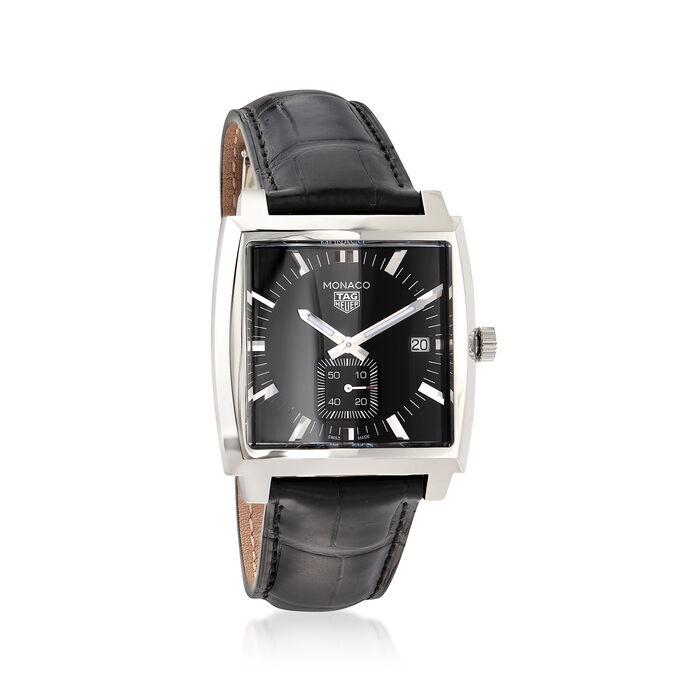 TAG Heuer Monaco Women's 37mm Stainless Steel Watch with Black Alligator