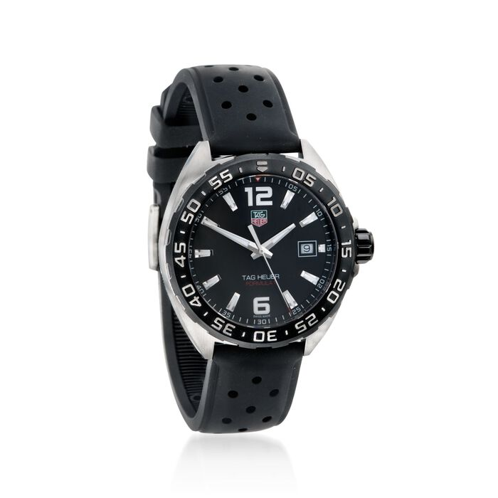 TAG Heuer Formula 1 Men's Black Rubber Watch with Titanium in Stainless Steel