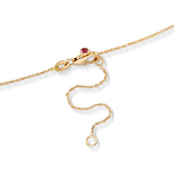 """Roberto Coin .23 ct. t.w. Diamond Dangle Station Necklace in 18kt Yellow Gold. 16"""""""