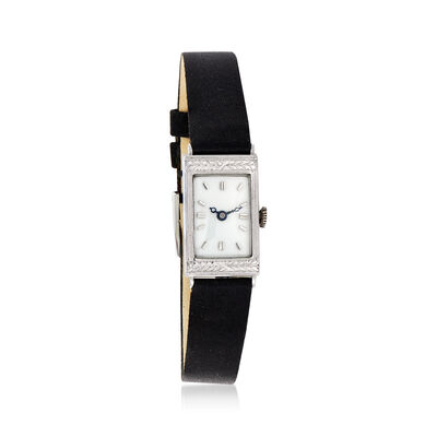 C. 1920 Vintage Women's 14mm Mechanical 14kt White Gold Watch, , default