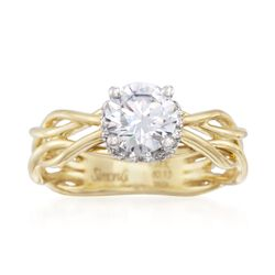 Simon G. .13 ct. t.w. Diamond Engagement Ring Setting in 18kt Two-Tone Gold, , default